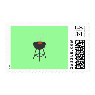 BBQ with sausages Stamp