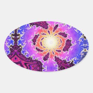 BBQSHOES: A15z Digital Fractal Art Design Oval Sticker