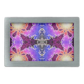 BBQSHOES: Diseño del arte del fractal de A15z Hebillas De Cinturón Rectangulares
