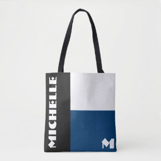 BBW 3 Tone Monogram Tote Bag