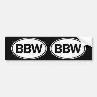 BBW Oval ID Bumper Sticker