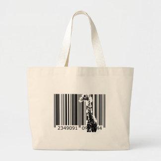 bc01 Bar Code Art Design Vector Fun Color Bag