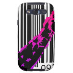 bc03 Bar Code Art Design Vector Fun Color Samsung Galaxy S3 Case