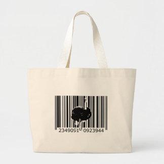 bc04 Bar Code Art Design Vector Fun Color Tote Bags