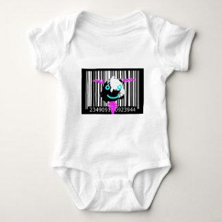 bc05 Bar Code Art Design Vector Fun Color Baby Bodysuit