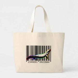 bc06 Bar Code Art Design Vector Fun Color Bag