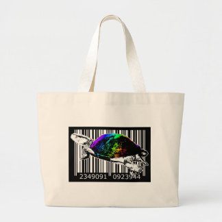 bc10 Bar Code Art Design Vector Fun Color Canvas Bag