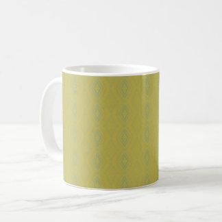 BC12 - Hand drawn yellow and blue pattern Coffee Mug