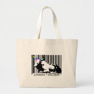 bc14 Bar Code Art Design Vector Fun Color Bag