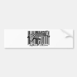 bc19 Bar Code Art Design Vector Fun Color X Bumper Sticker