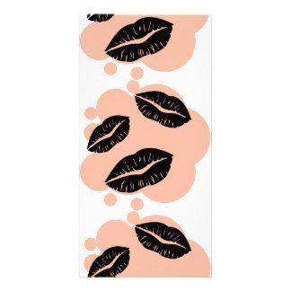 BC3K BLACK CORAL KISSES LIPS FASHION MAKEUP LIPSTI CARD