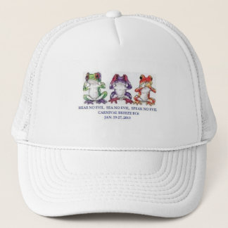 bc6 3 wise frogs trucker hat