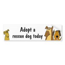 BC- Adopt a rescue dog bumper sticker