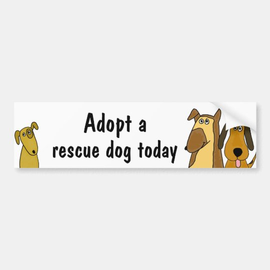 BC- Adopt a rescue dog bumper sticker