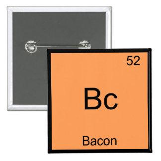 Bc - Bacon Funny Element Chemistry Meme T-Shirt Pinback Button