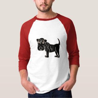 BC- Black Shar Pei Dog Cartoon T-Shirt