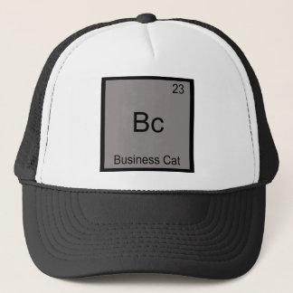 Bc - Business Cat Funny Chemistry Element Symbol Trucker Hat