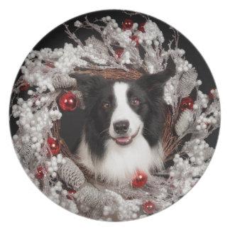 BC Christmas Melamine Plate