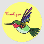 BC- Colorful Hummingbird Thank you Stickers