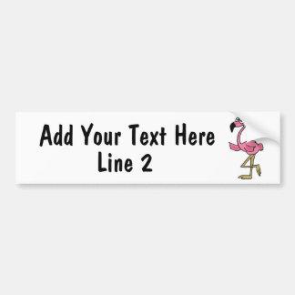 BC- Custom Pink Flamingo Bumper Sticker Car Bumper Sticker