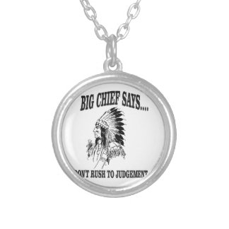 bc dont rush to judgement silver plated necklace