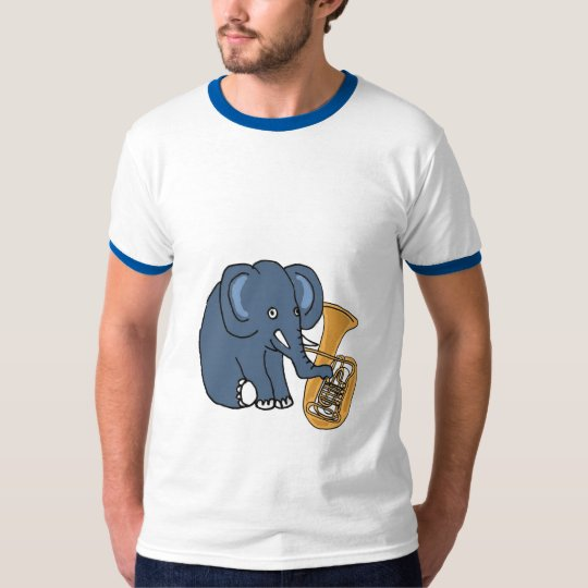 BC- Elephant Playing a Tuba Shirt