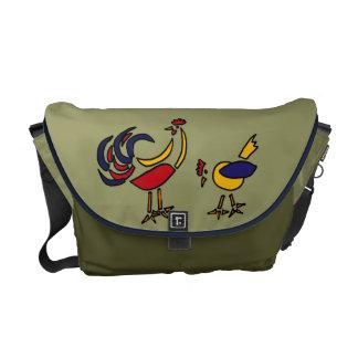 BC- Funky Chicken Messenger Bag