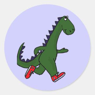BC- Funny Jogging Dinosaur Stickers