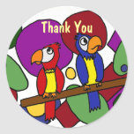 BC- Funny Parrots Thank You Stickers