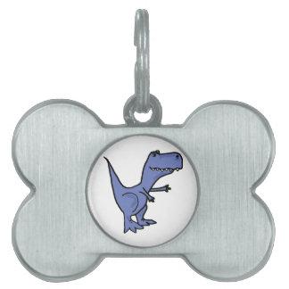 BC- Funny T-Rex Dinosaur Dog Pet Tag or Keychain