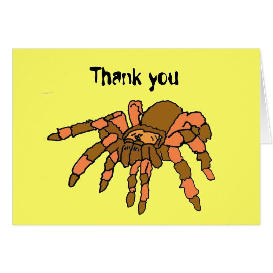 BC- Funny Tarantula Thank you Card