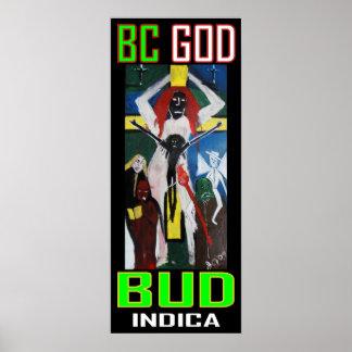 BC GOD BUD INDICA POSTER