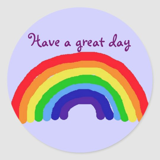 Bc have a great day rainbow sticker