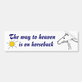 BC- Heaven Horseback Bumper sticker