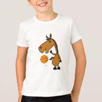 BC- Horse Playing Basketball Shirt
