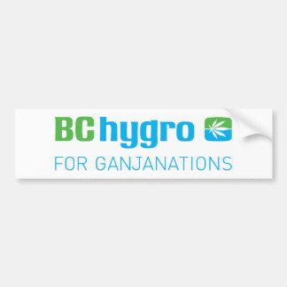 BC hygro FOR GANJANATIONS Pot Leaf Bumper Sticker