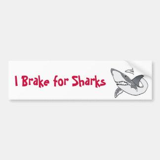BC-I Brake for Sharks Bumper Sticker