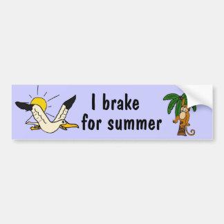 BC- I brake for summer bumper sticker Car Bumper Sticker