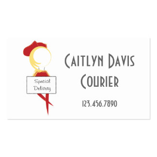 BC Illustration of Courier Business Card