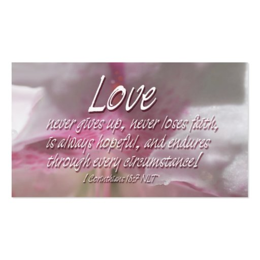 BC Love Scriptures Double-Sided Standard Business Cards (Pack Of 100)