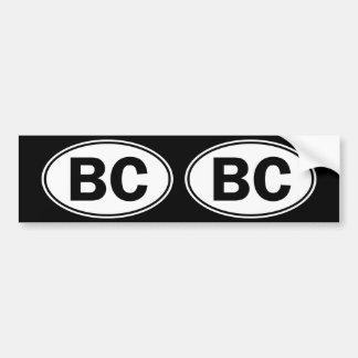 BC Oval ID Bumper Sticker