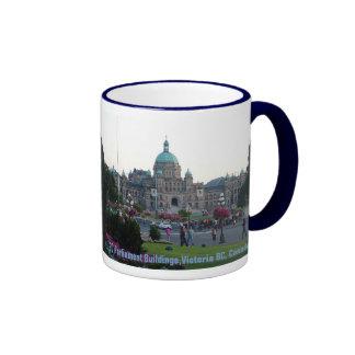 BC Parliament Buildings/Victoria BC Canada Ringer Mug