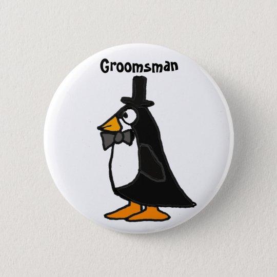 BC- Penguin Groomsman Button