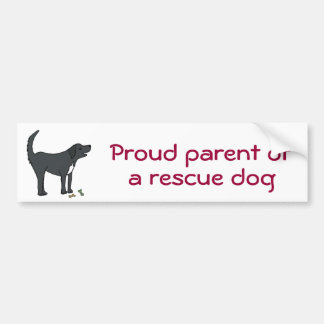 BC- Proud parent of a rescue dog sticker