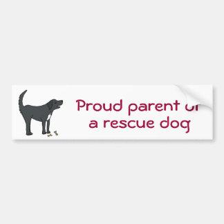 BC- Proud parent of a rescue dog sticker Car Bumper Sticker