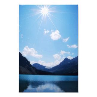BC Rocky Mountain Sunlight Photo Art