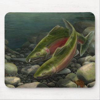 BC Salmon Art Mousepad Fish Painting Decor