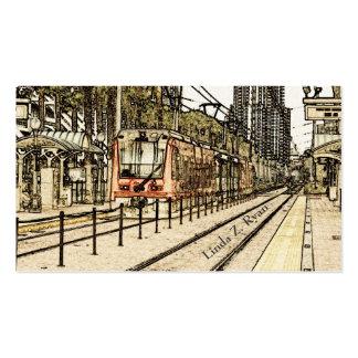 BC - San Diego Train Sketch Business Card