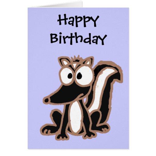 BC- Silly Skunk Cartoon Cards