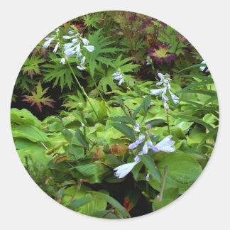 BC summer gardens2 Round Stickers